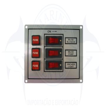 Imagem de Painel elétrico 3 botões 12V - Cod.2202